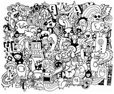 Doodle Art Coloring Pages Free Coloring Pages Doodled