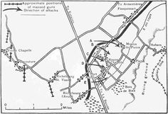 Map of the Ypres Salient to show the area of ground gained