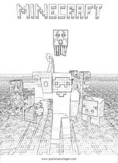 Ender Dragon, the dragon from Minecraft coloring page