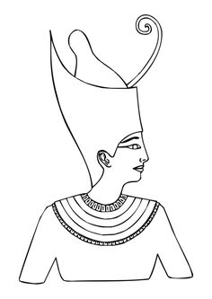 Atum, Ancient Egyptian God of Creation Coloring page