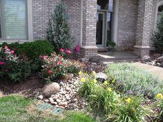 front yard landscape construction