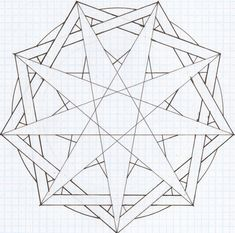 1000+ images about Nine pointed star patterns on Pinterest