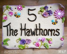 This Beautifully Hand Made Ceramic House Sign Is Personalised With