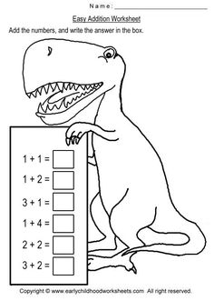 Dinosaur math worksheets, free printable dinosaurs math