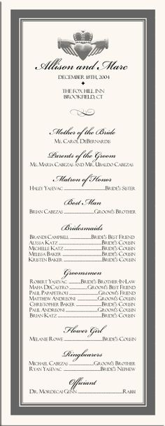1000+ images about Wedding Order of Service on Pinterest