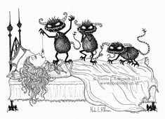 Nicola L Robinson pen and ink illustration for childrens