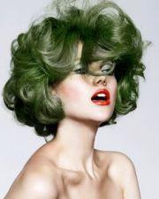 1000 grey green hair