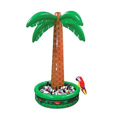 details about ft tropical luau hawaiian party jumbo palm tree pool inflatable drinks cooler