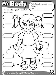 Worksheets for kids, The body and Worksheets on Pinterest