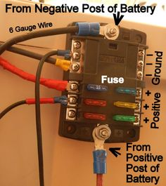 Diagram showing which color wire to use Basic 12 Volt Wiring  installing LED light fixture