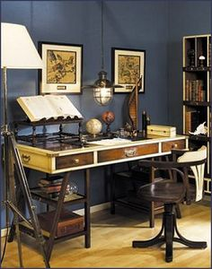 1000 ideas about Nautical Office on Pinterest  Desks For Home Campaign Furniture and Folding Desk