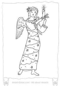 Saint Matthew and the Angel Coloring Pages from our
