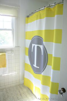 Zigzag Shower Curtain #UrbanOutfitters For Our New Black And White