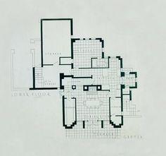 Warren Hickox House. Frank Lloyd Wright. Kankakee