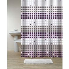 Stunning Grey And Purple Shower Curtain Contemporary - 3D house ...