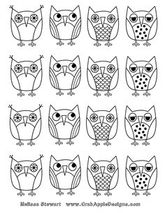 1000+ images about Owl Coloring Sheets on Pinterest