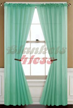 Warm Home Designs Pair Of Light Yellow Sheer Curtains Or Extra
