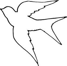 Bird feet pattern. Use the printable outline for crafts