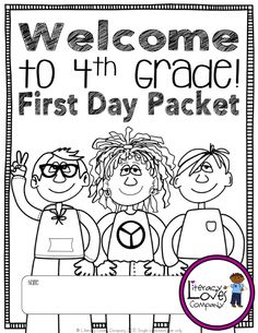 Back to School Activity Packet : Welcome to 4th Grade [NO