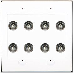 (2 GANG Power Outlet Left 15A 125V) 4-HDMI 1-CAT6 1-COAX