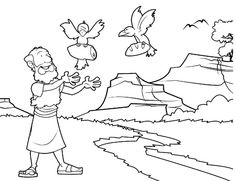 Elijah At Horeb (Coloring Page) Coloring pages are a great