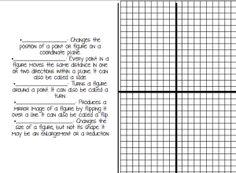 Geometry Formulas Foldable Volume Surface Area
