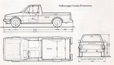 CAR blueprints / 1990 Volkswagen Caddy Pick-up blueprint