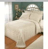 Kingston Beige or White Chenille Bedspreads | Discover ...