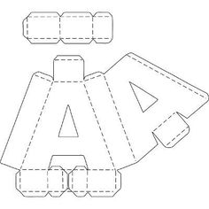 Letter K pattern. Use the printable outline for crafts