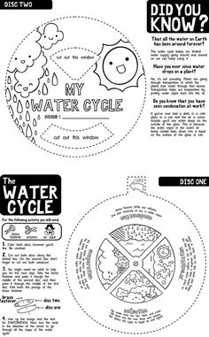 The Water Cycle Foldable, fold and learn with science