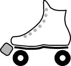 Roller skates pattern. Use the printable outline for