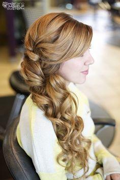 side swept curls on pinterest side swept hairstyles side curls and side curly hairstyles