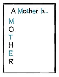 Examples Of Mothers Day Acrostic Poems