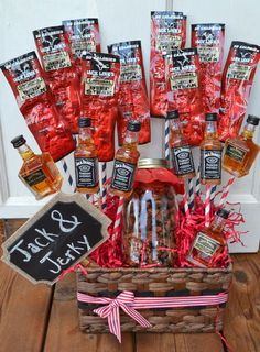 Christmas Gift For Him Jack And Jerky Bouquet