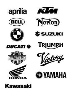 Free Logo Vector Brands Aprilla, KTM, Bell, Norton, BMW