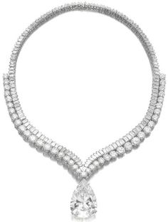 Diamond necklaces, Diamonds and Be queen on Pinterest