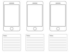 Iphone 5 Wireframe Template For Your Next Project
