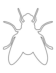 Ant pattern. Use the printable pattern for crafts