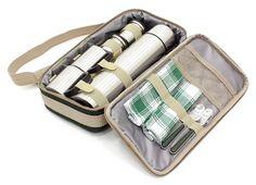 greenfield collection fpdgh porta termos de lujo para dos personas color verde bosque