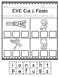 Roll and Write CVC Words- Roll a die. Say the name of the