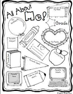 All about me poster #1st grade project Kids can work on