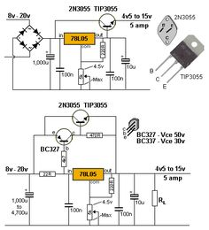 DC Power supply 0 30v 5A. It use LM723 DC voltage