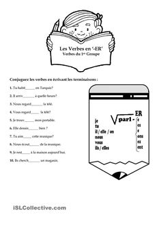 French verb ETRE ~worksheet ~verb conjugation ~translation