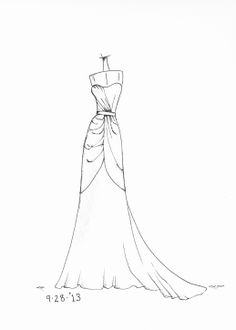 Dress sketches, Sketch design and Simple dresses on Pinterest