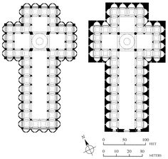 Plan and elevation of 67. Pazzi Chapel. Basilica di Santa