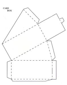 Three Tier Cake Slice Box Templates: With the three tier