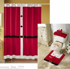 Shower Curtain Sets 18 Pc Christmas Bath Set Shower Curtain
