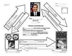 Branches of Government diagram; color-coding checks and