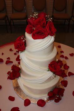 Red roses wedding ca