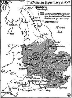 A large-scale map of southern England (up to York) in the